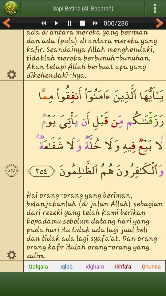 Surat Al Baqarah Ayat 261 : surat, baqarah, Tajwid, Albaqarah, Brainly.co.id