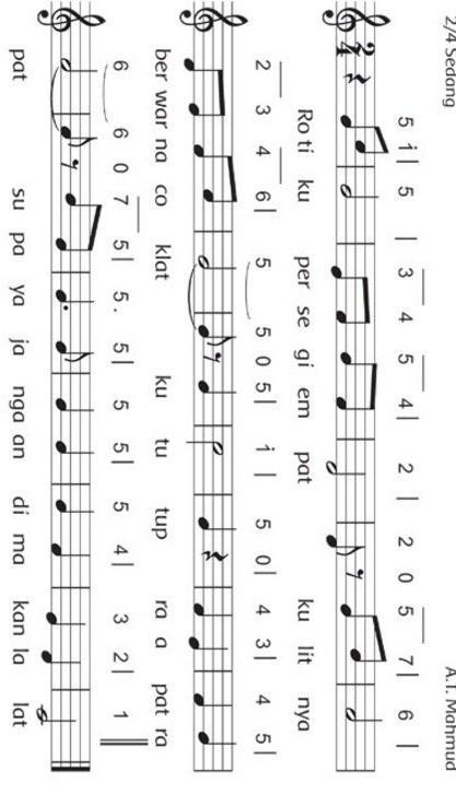 Lagu Berjudul Rotiku Diciptakan Oleh : berjudul, rotiku, diciptakan, Tuliskan, Lirik, Rotiku, Dengan, Irama, Masing-masing!, Brainly.co.id