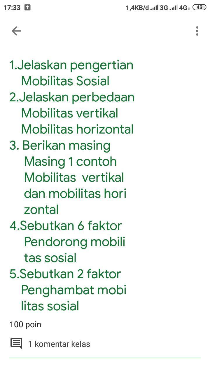 Contoh Mobilitas Horizontal Brainly : contoh, mobilitas, horizontal, brainly, Bantuuu, Gannn, Jangan, Ngasallllll, Brainly.co.id