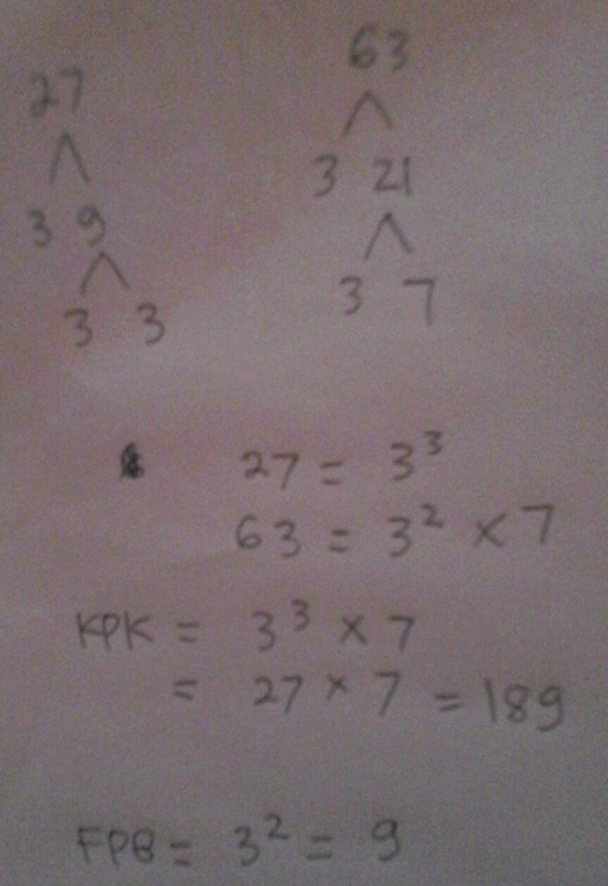 Kpk Dari 27 Dan 45 Adalah : adalah, Pakai, Pohon, Faktor, Brainly.co.id