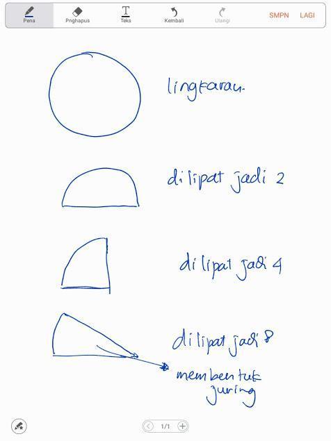 Bentuk Lingkaran : bentuk, lingkaran, Lipat, Lingkaran, Menjadi, Bagian, Besar., Bentuk, Lihat, 2.apakah, Brainly.co.id