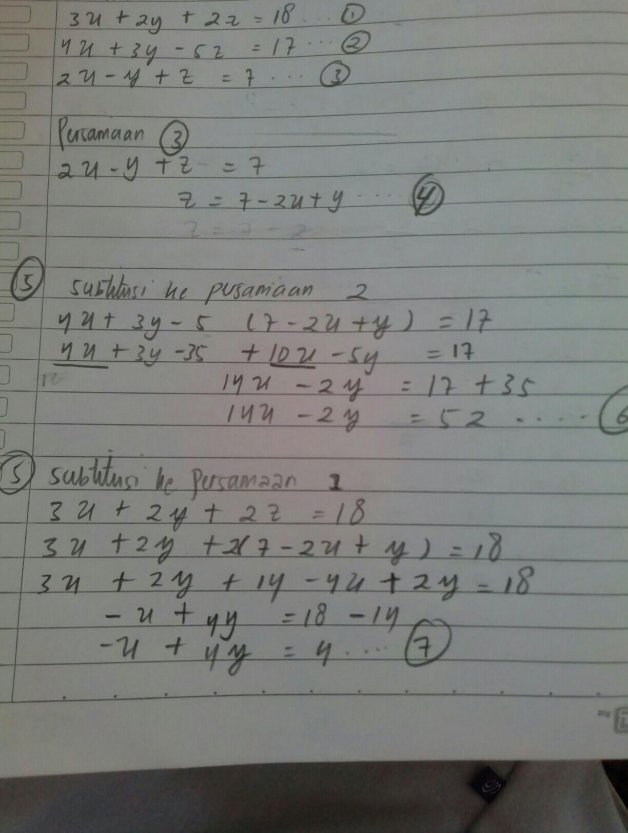 Persamaan Tiga Variabel : persamaan, variabel, Buatkan, Contoh, Sistem, Persamaan, Linear, Variabel, Beserta, Penyelesaiannya, Brainly.co.id