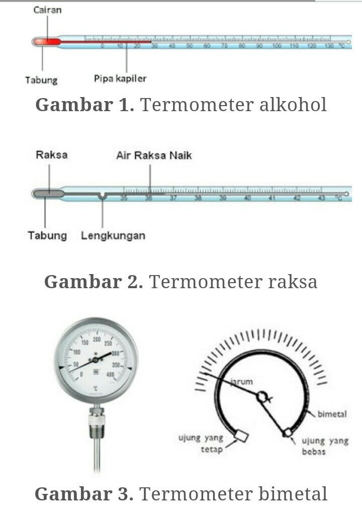Cara Kerja Termometer Bimetal : kerja, termometer, bimetal, Prinsip, Kerja, Termometer, Cair,termometer, Bimetal,termometer, Kristal, Brainly.co.id