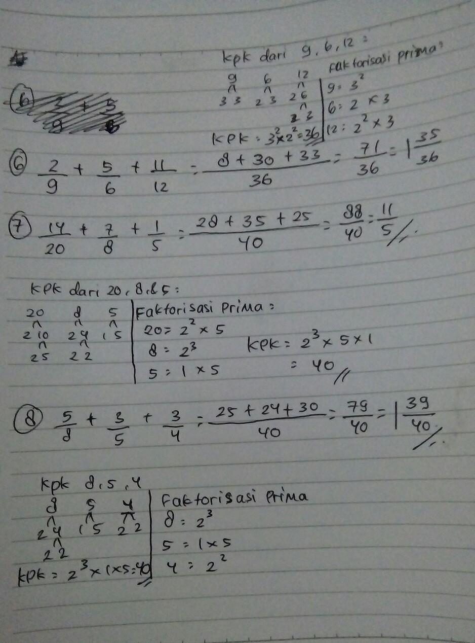 Cara Faktorisasi : faktorisasi, Gunakan, Faktorisasi, Prima, Untuk, Menentukan, Penyebut, 11/12, 14/20, Brainly.co.id