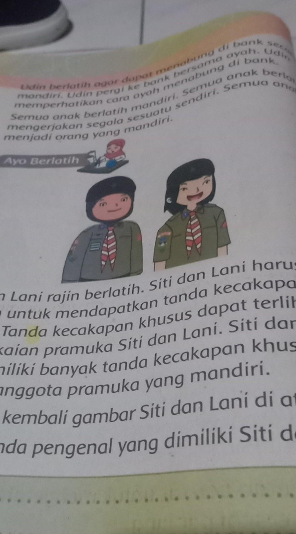 Apa Saja Tanda Pengenal Yang Dimiliki Siti Dan Lani : tanda, pengenal, dimiliki, Tanda, Pengenal, Dimiliki, Anggota, Pramuka, Brainly.co.id