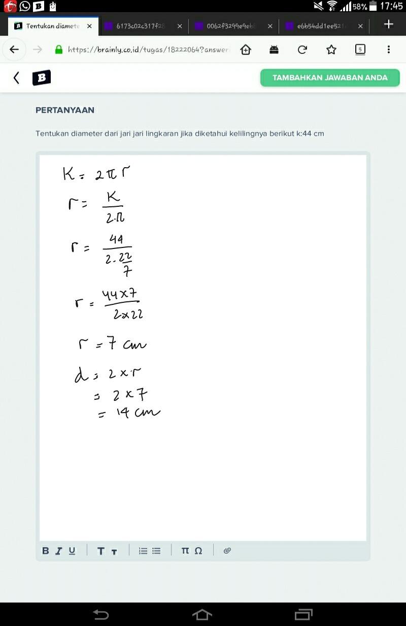 Rumus Mencari Diameter Lingkaran : rumus, mencari, diameter, lingkaran, Rumus, Lingkaran, Diketahui, Kelilingnya, Edukasi.Lif.co.id