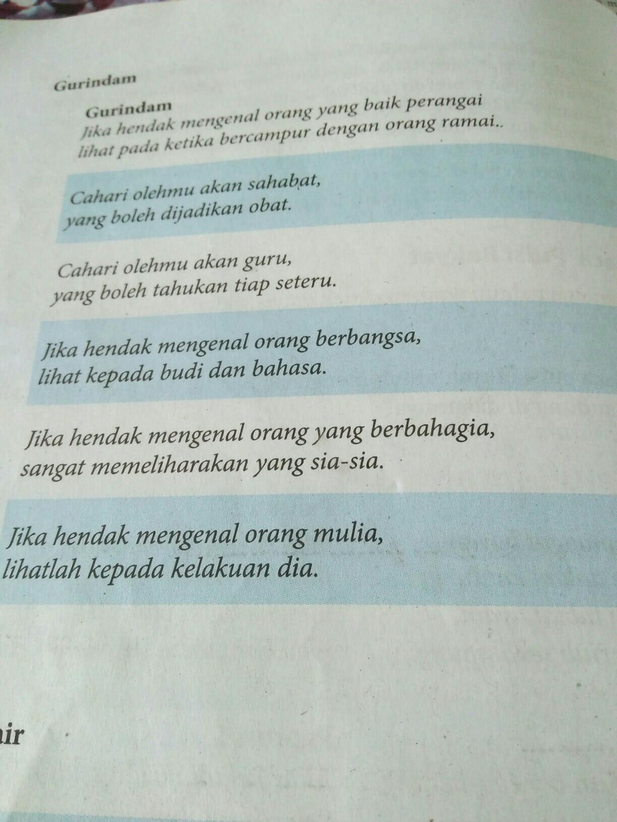 Gurindam Sahabat : gurindam, sahabat, Buatin, Pantun, Gurindam, Syair, Plisss, Brainly.co.id