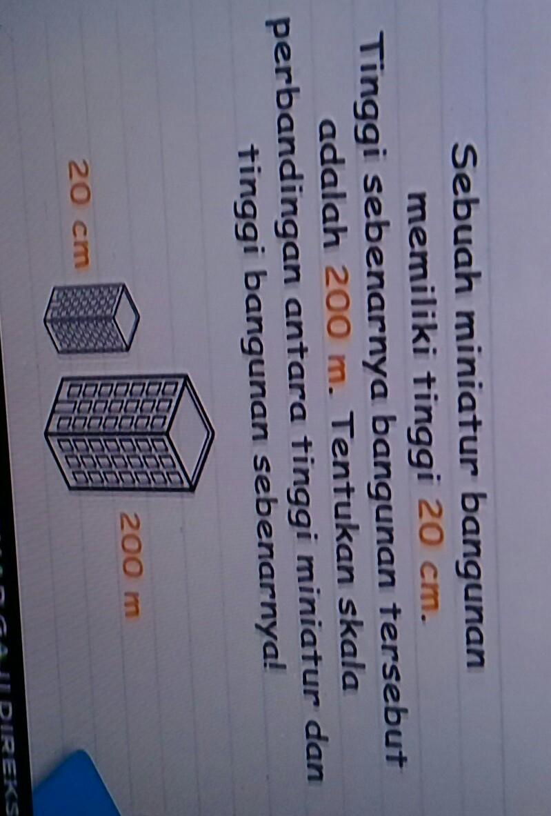 Sebuah Miniatur Bangunan Memiliki Tinggi 20 Cm Tinggi Sebenarnya Bangunan Tersebut Adalah 200 M : sebuah, miniatur, bangunan, memiliki, tinggi, sebenarnya, tersebut, adalah, Sebuah, Miniatur, Bangunan, Memiliki, Tinggi, Sebenarnya, Tersebut, Adalah, Sedang