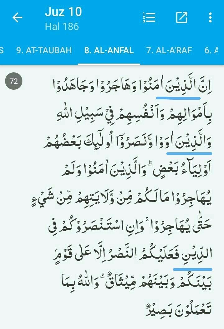Bacaan Alif Lam Syamsiyah : bacaan, syamsiyah, Tuliskan, Lafal, Mengandung, Hukum, Bacaan, Syamsiah, Dalam, Al.anfal/8;72, Brainly.co.id
