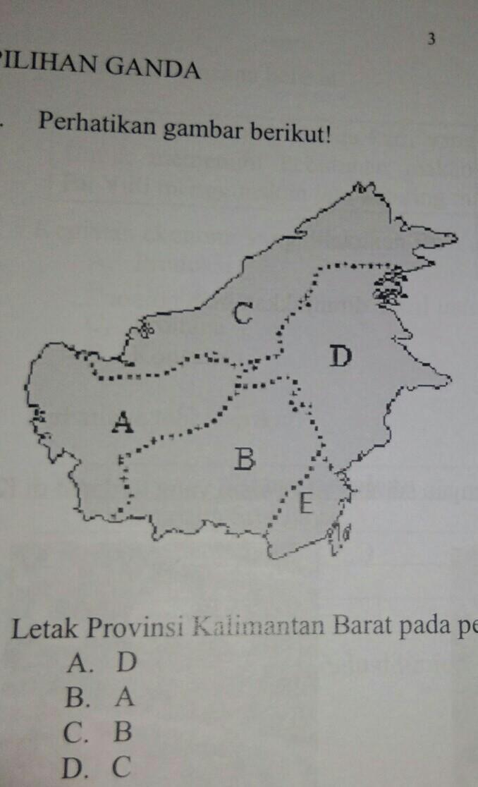 Peta Kalimantan Hitam Putih : kalimantan, hitam, putih, Letak, Provinsi, Kalimantan, Barat, Tersebut, Ditunjukkan, Huruf, A.DB.AC.BD.C, Brainly.co.id
