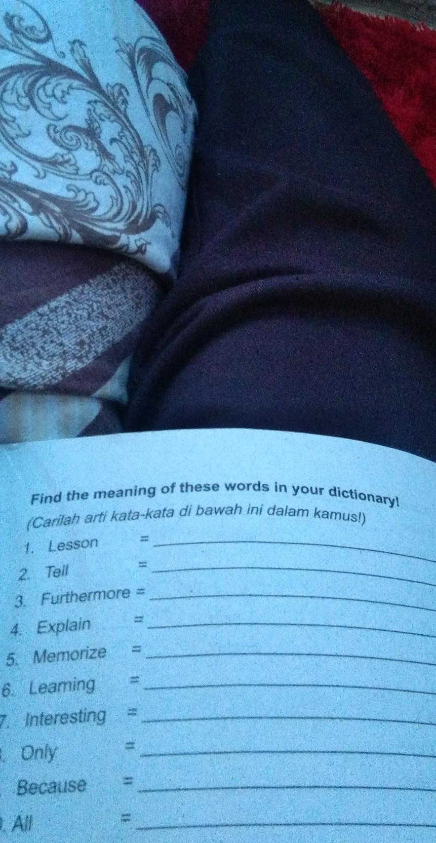 Arti Kata Only : Carilah, Kata-kata, Bawah, Dalam, Kamus!)neaning, These, Words, Dictionary!1., Brainly.co.id