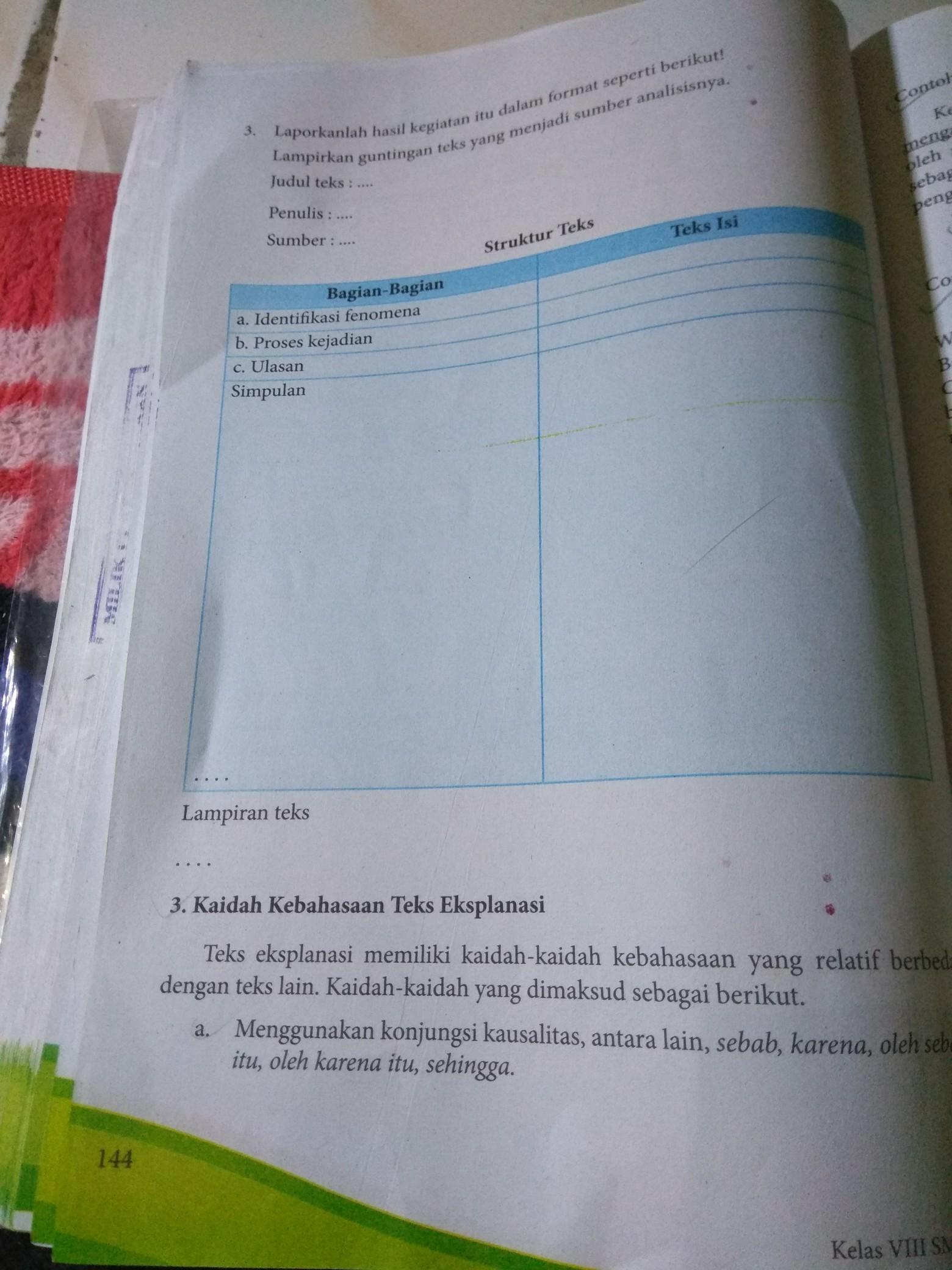 Kegiatan 5.6 Bahasa Indonesia Kelas 8 : kegiatan, bahasa, indonesia, kelas, Tugas, Bahasa, Indonesia, Kelas, Halaman, Brainly.co.id