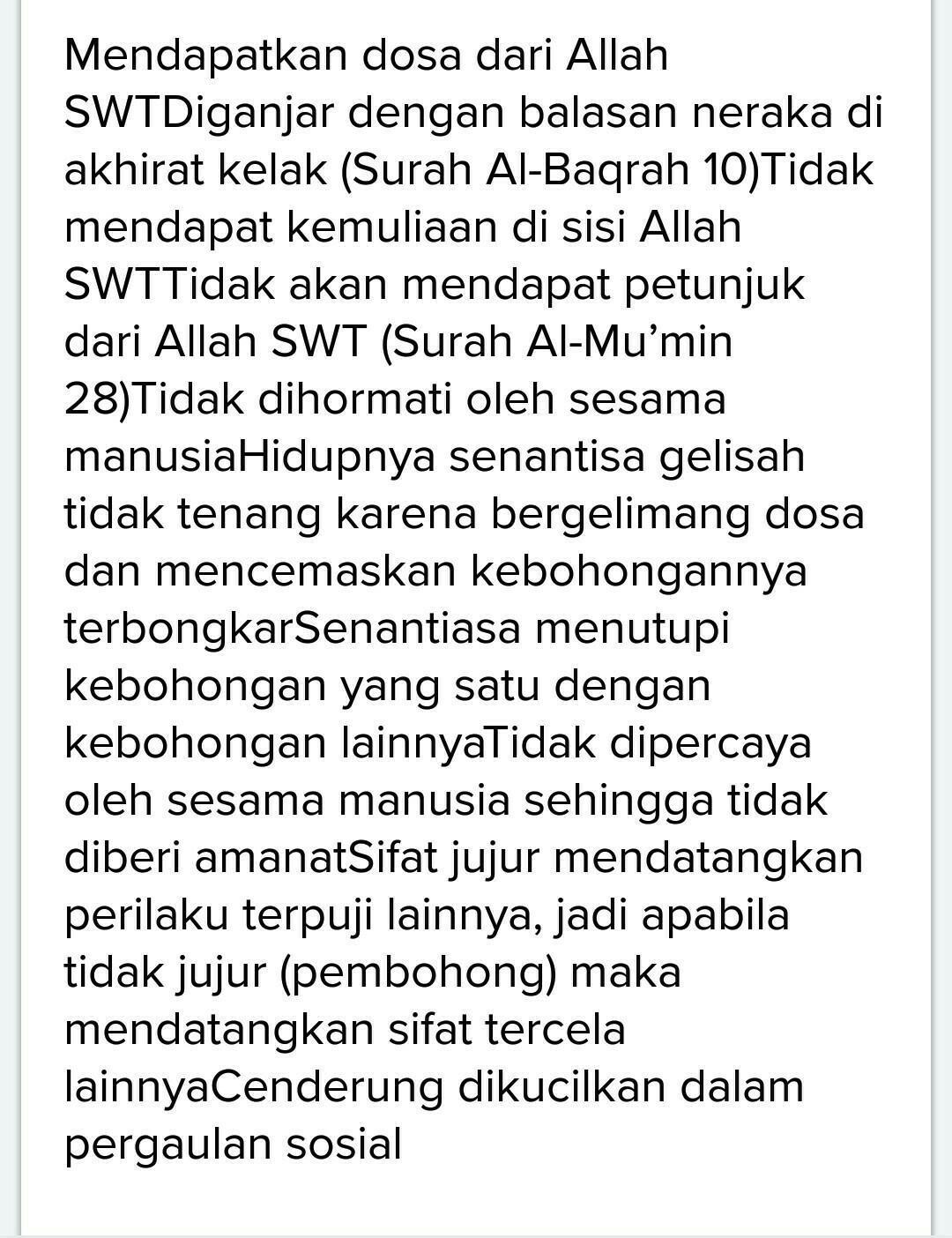 Kejujuran dalam Islam dan Dalilnya - DalamIslam.com