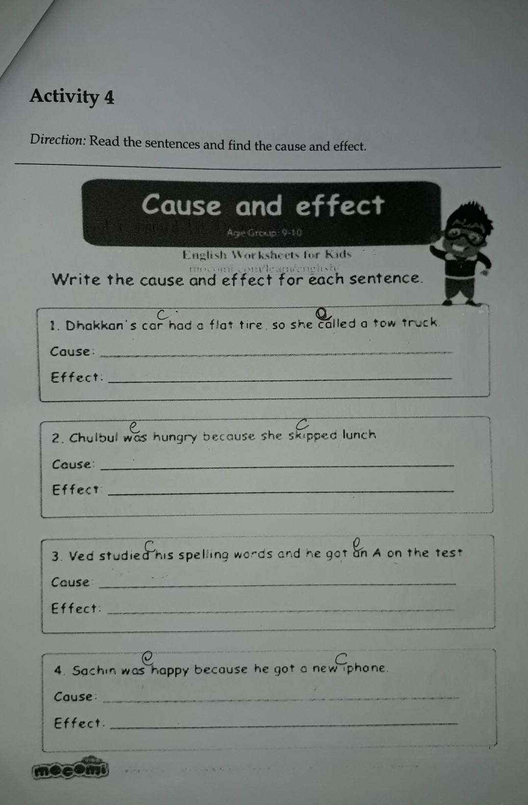Contoh Kalimat Cause And Effect : contoh, kalimat, cause, effect, Write, Cause, Effect, Sentence, Brainly.co.id