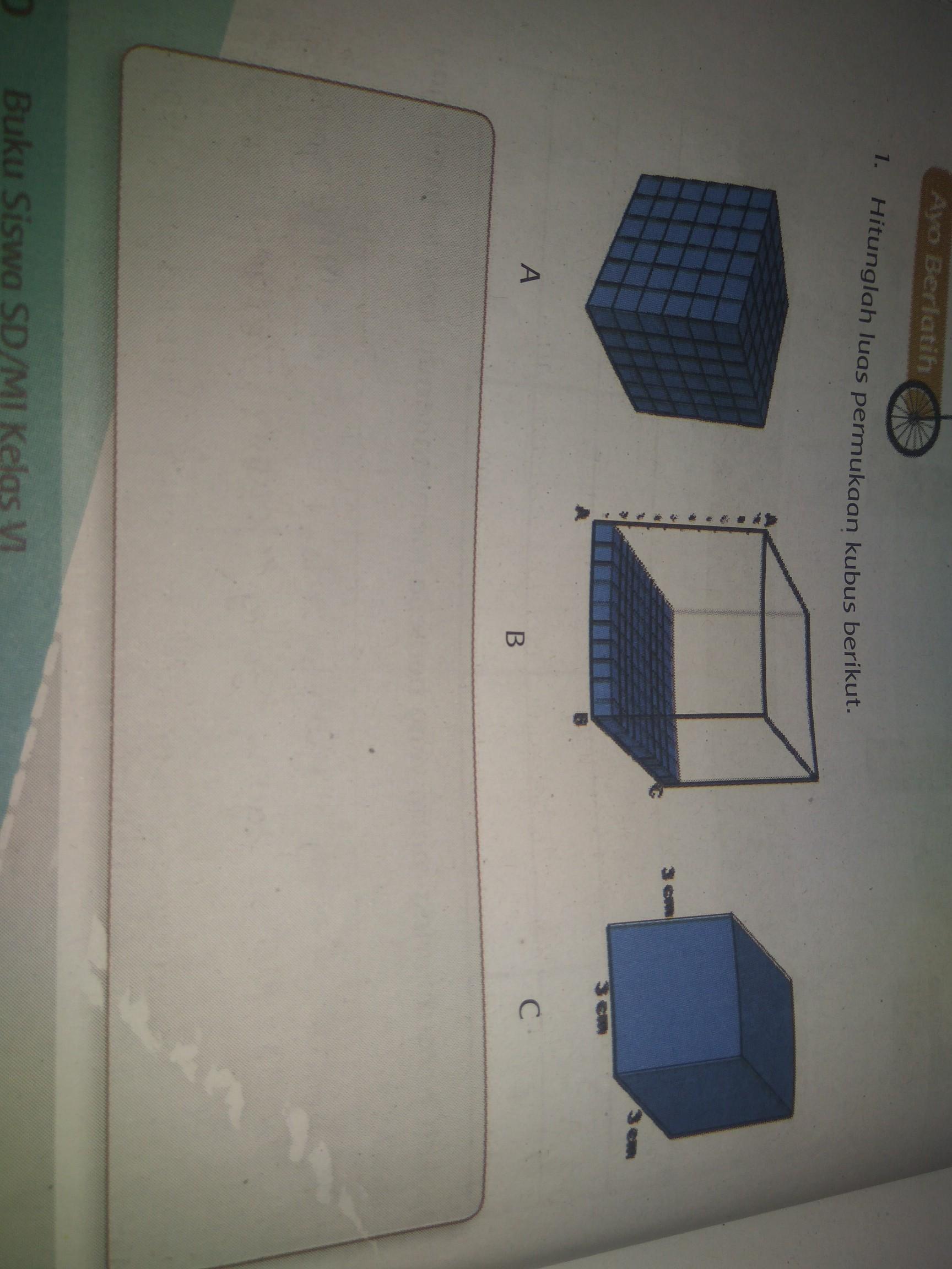 Luas Permukaan Kubus : permukaan, kubus, Hitunglah, Permukaan, Kubus, Berikut., Brainly.co.id