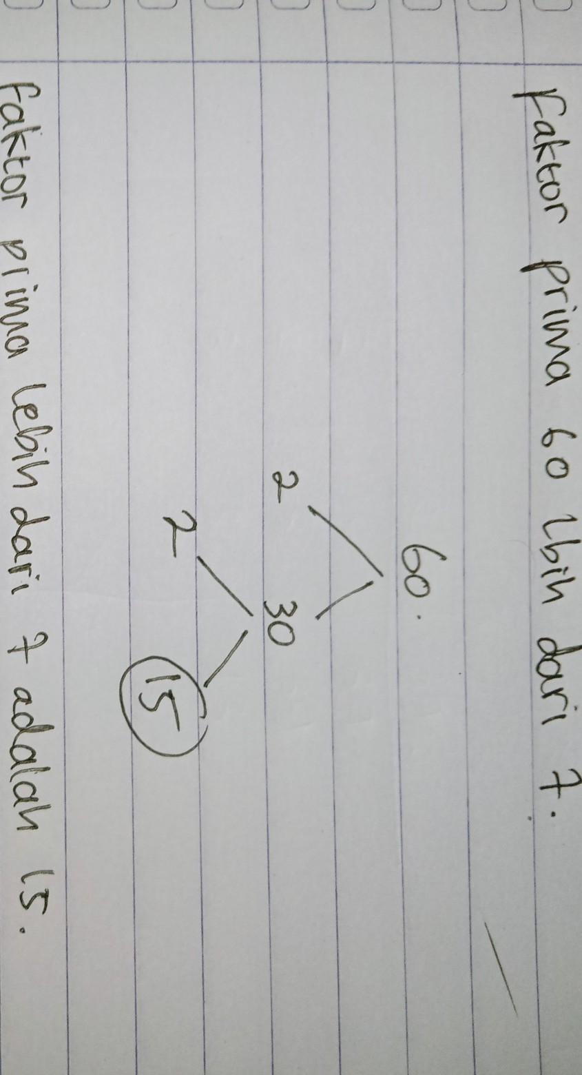 Faktorisasi Prima Dari 60 : faktorisasi, prima, Faktor, Prima, Lebih, Brainly.co.id