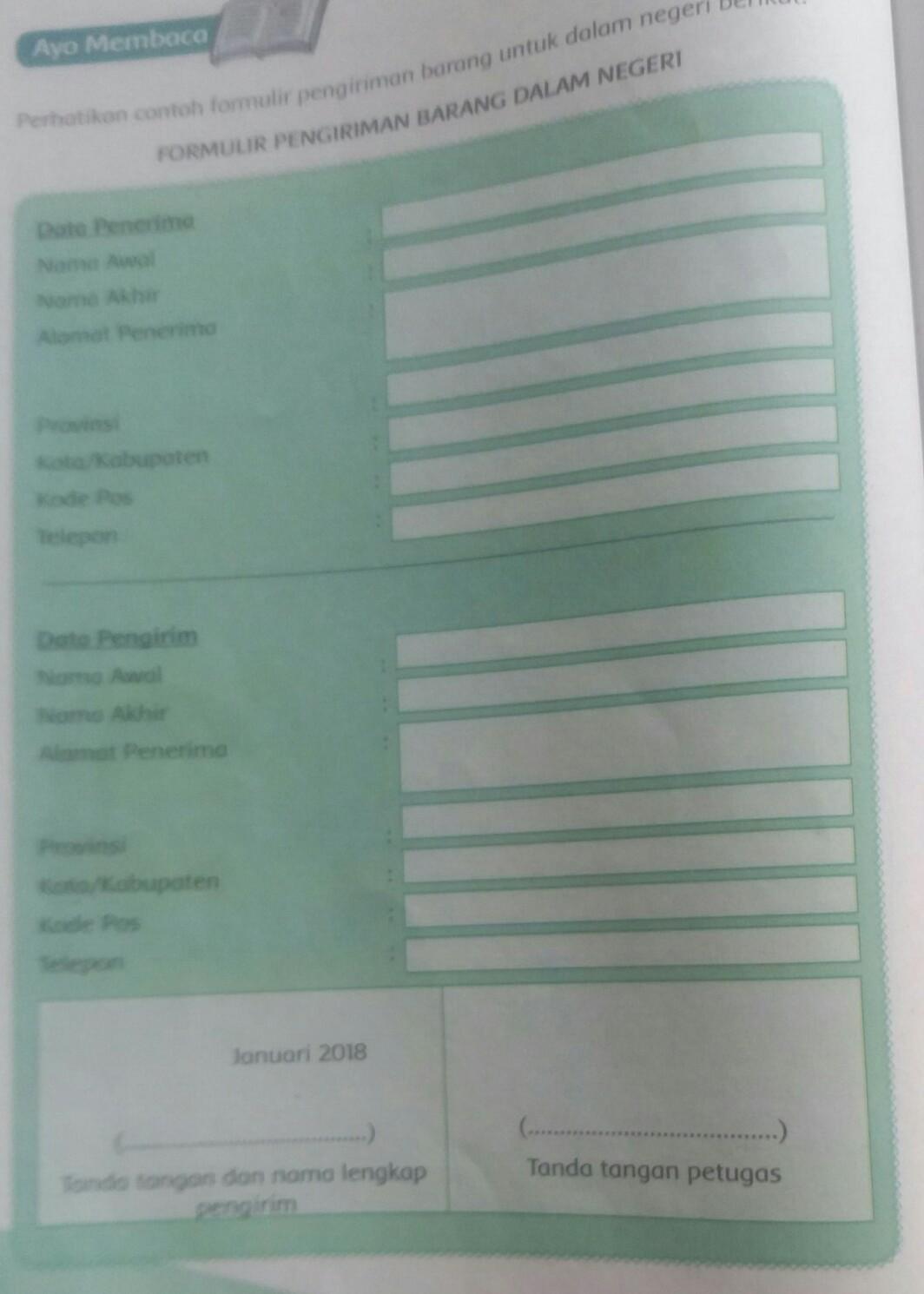 Contoh Format Kirim Paket - IlmuSosial.id