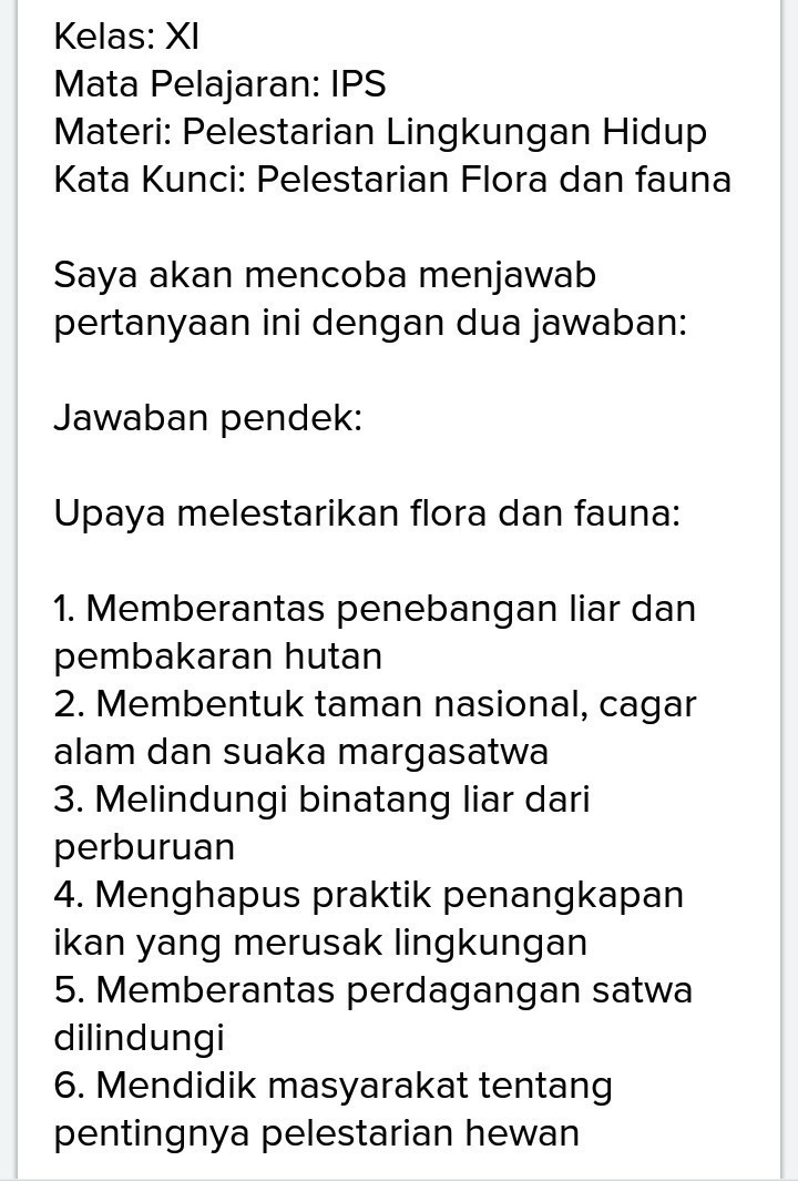 Upaya Konservasi Flora Dan Fauna : upaya, konservasi, flora, fauna, Sebutkan, Upaya, Dalam, Melestarikan, Flora, Fauna, Indonesia, Brainly.co.id