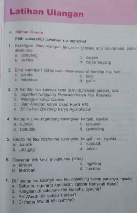 Kecap Nu Teu Ngandung Rarangken Tengah Nyaeta : kecap, ngandung, rarangken, tengah, nyaeta, Tolong, Bahasa, Sunda,, Terimakasih, Brainly.co.id