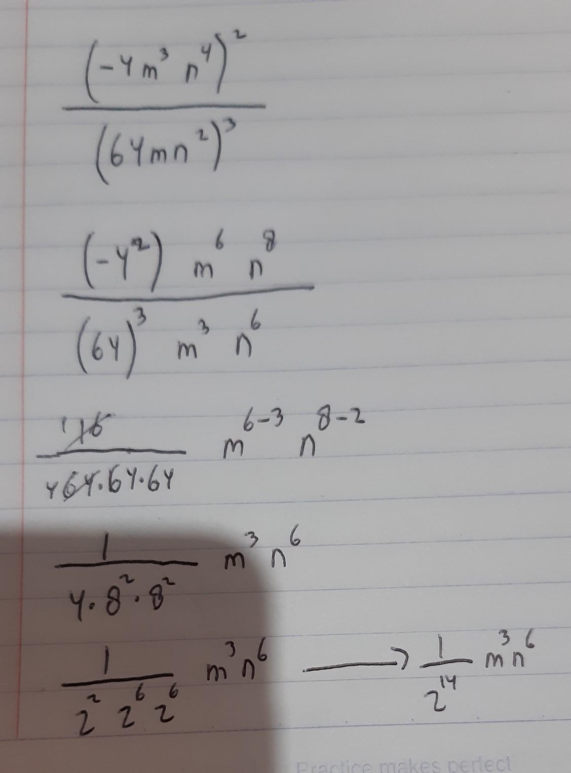 Sederhanakanlah Bentuk Pangkat Berikut : sederhanakanlah, bentuk, pangkat, berikut, Sederhanakan, Bentuk, Pangkat, Berikut, (-4m³n⁴)²:(64mn²)³=, Brainly.co.id