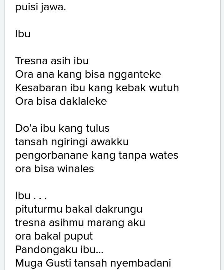 Geguritan Bahasa Jawa Singkat : geguritan, bahasa, singkat, Puisi, Dalam, Bahasa, Koleksi
