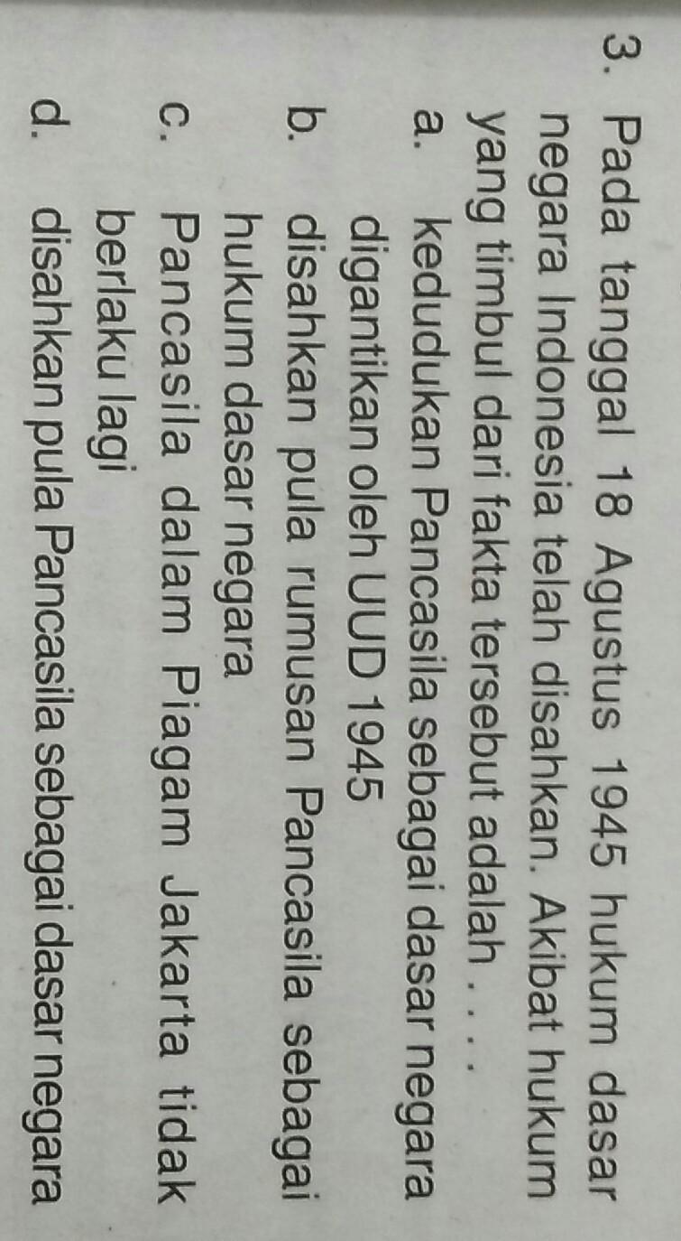 Pancasila Disahkan Pada Tanggal : pancasila, disahkan, tanggal, Tanggal, Agustus, Hukum, Dasar, Negara, Indonesia, Telah, Disahkan., Akibat, Timbul, Brainly.co.id