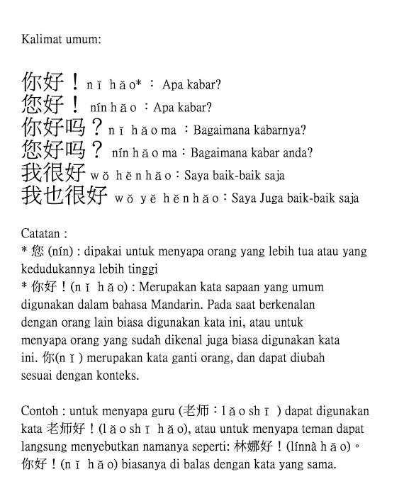 Contoh Sapaan : contoh, sapaan, Kalimat-Kalimat, Sapaan, Dalam, Bahasa, Mandarin?, Hanzi-nya, Brainly.co.id