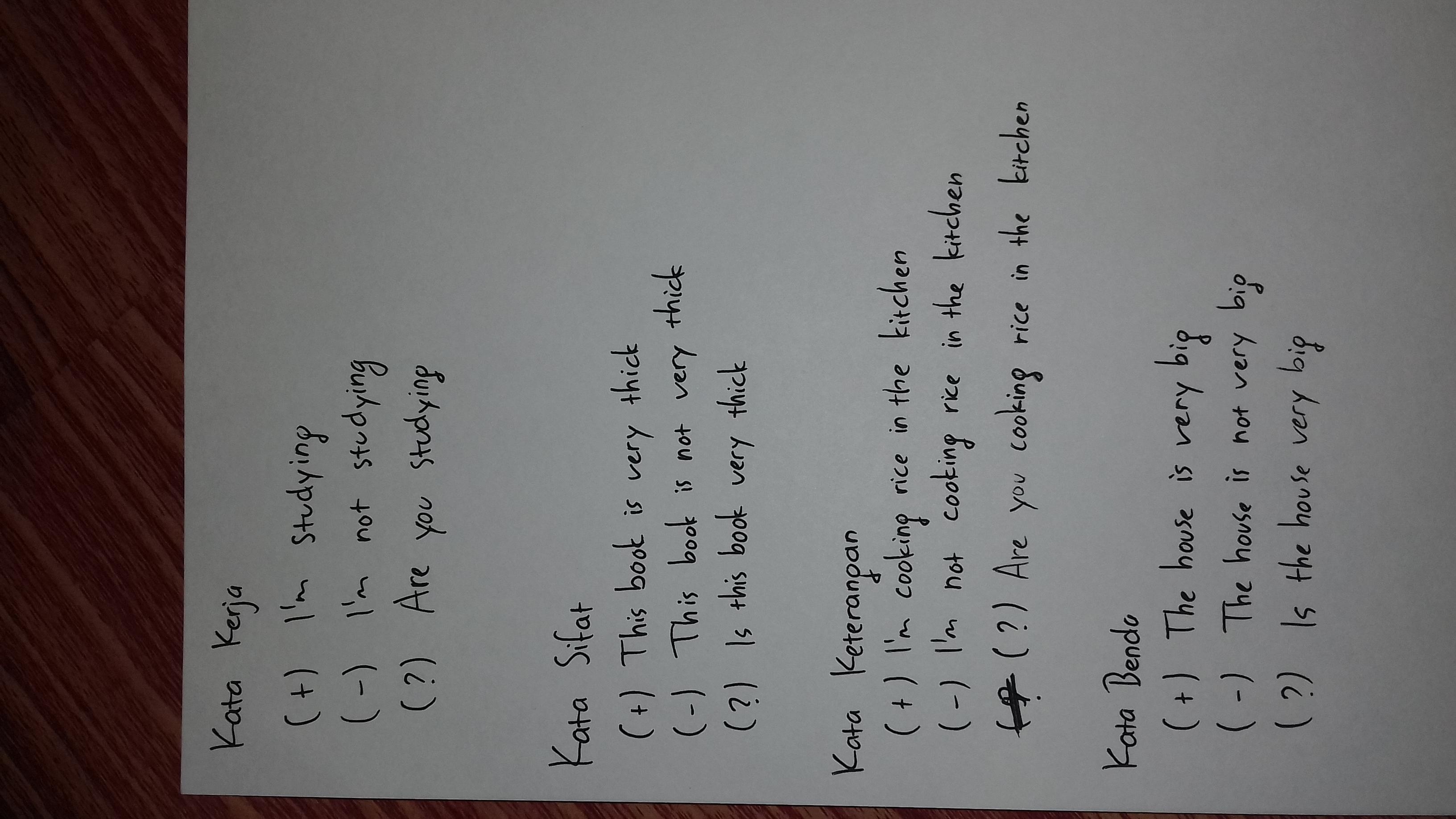 Contoh Kalimat Adjective Menggunakan Kata Sifat... | EnglishCoo