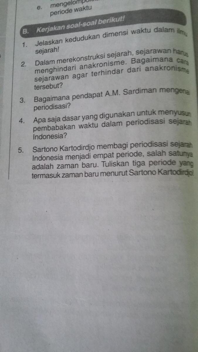 Periodisasi Dan Kronologi Sejarah Indonesia   Fakta