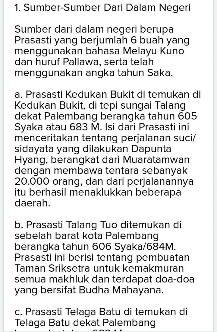 Prasasti Kedukan Bukit Berisi Tentang : prasasti, kedukan, bukit, berisi, tentang, Sejarah, Sriwijaya, Brainly.co.id