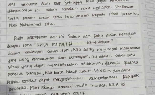 Contoh Pidato Bahasa Bali Tentang Hari Kemerdekaan Dengan