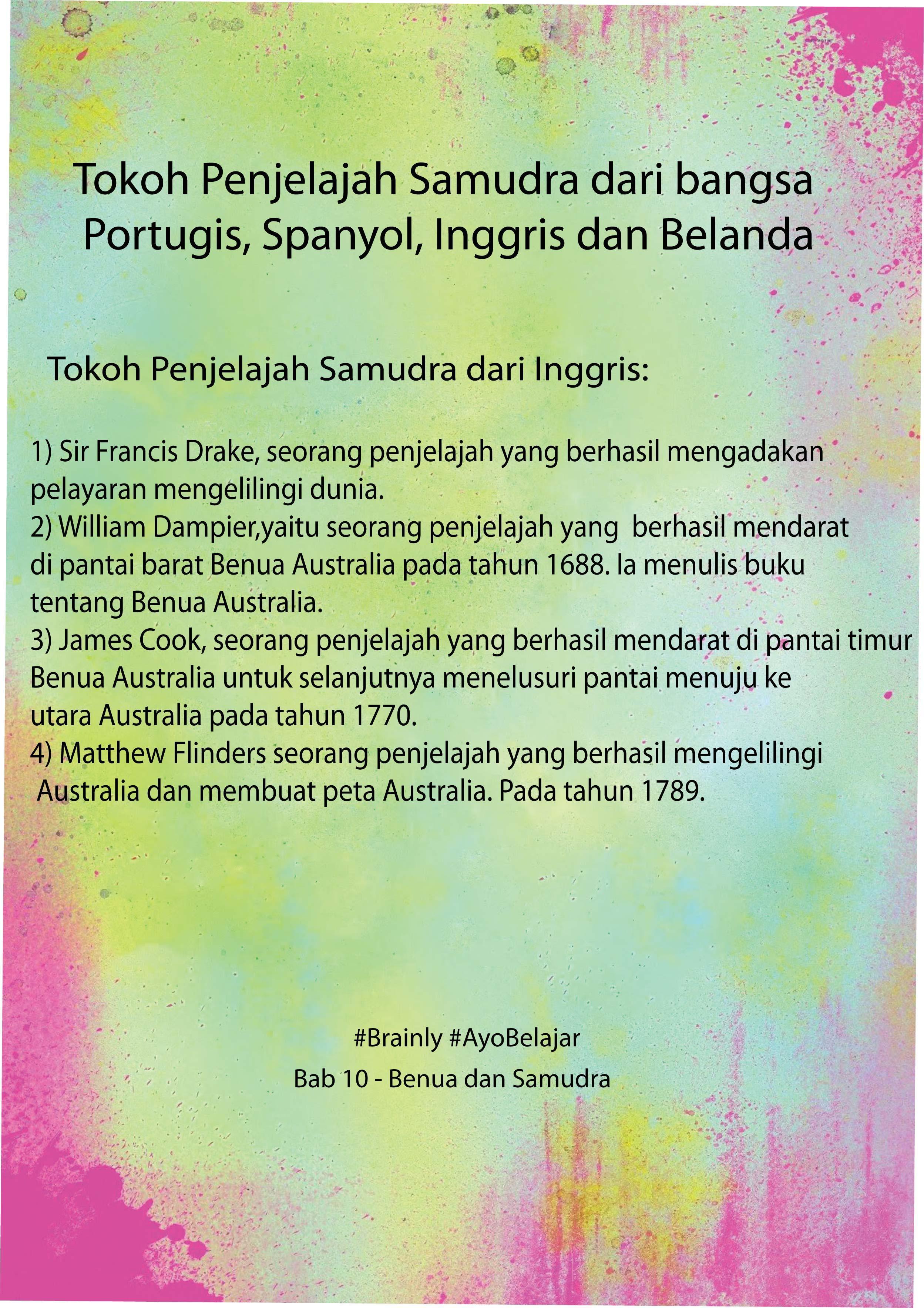 Bangsa Eropa Yang Pertama Kali Menjajah Indonesia Adalah : bangsa, eropa, pertama, menjajah, indonesia, adalah, Tokoh, Penjelajah, Samudra, Bangsa:, Portugis,spanyol,inggris,dan, Belanda, Brainly.co.id