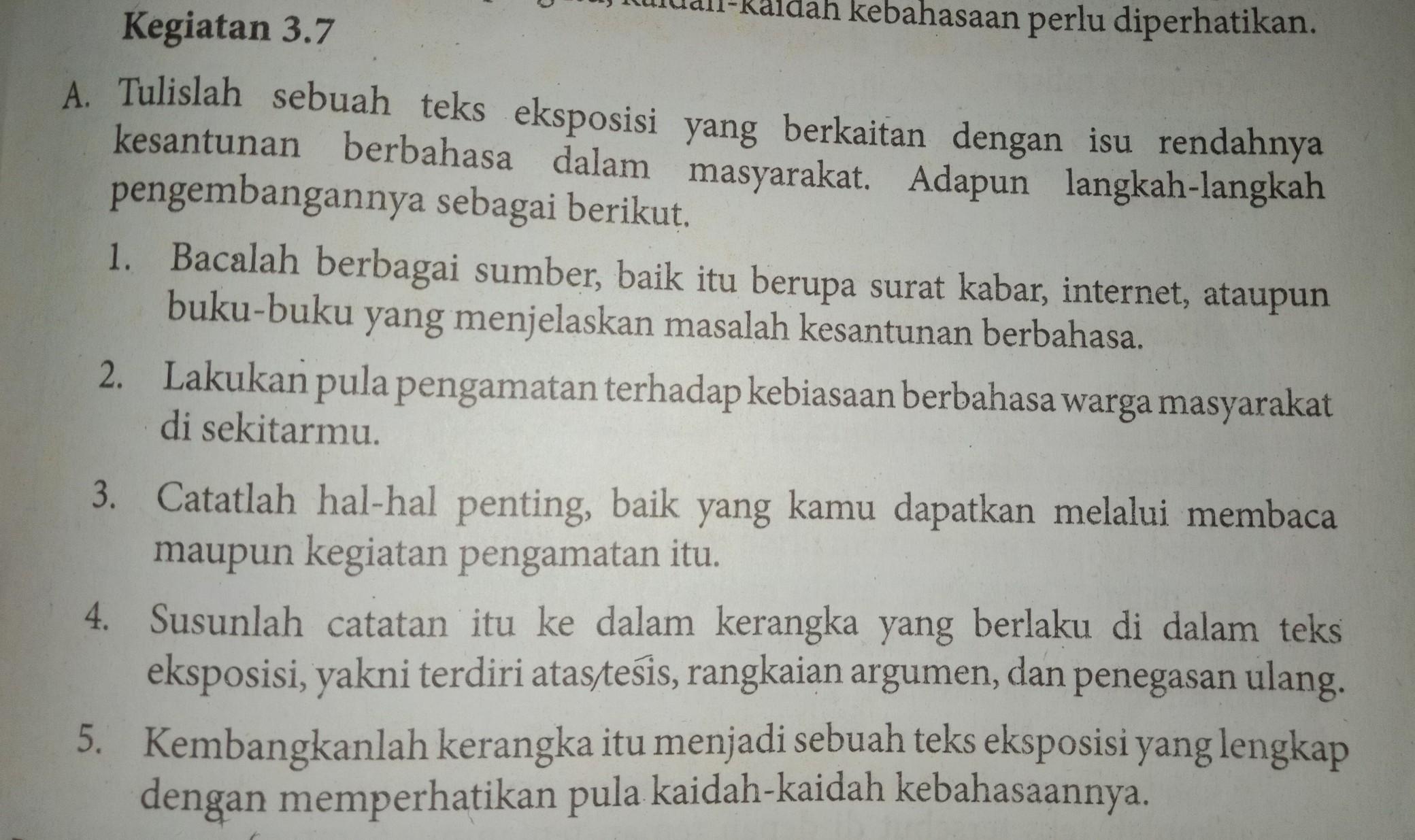 Kegiatan 3 7 Bahasa Indonesia Kelas Viii Semester 1