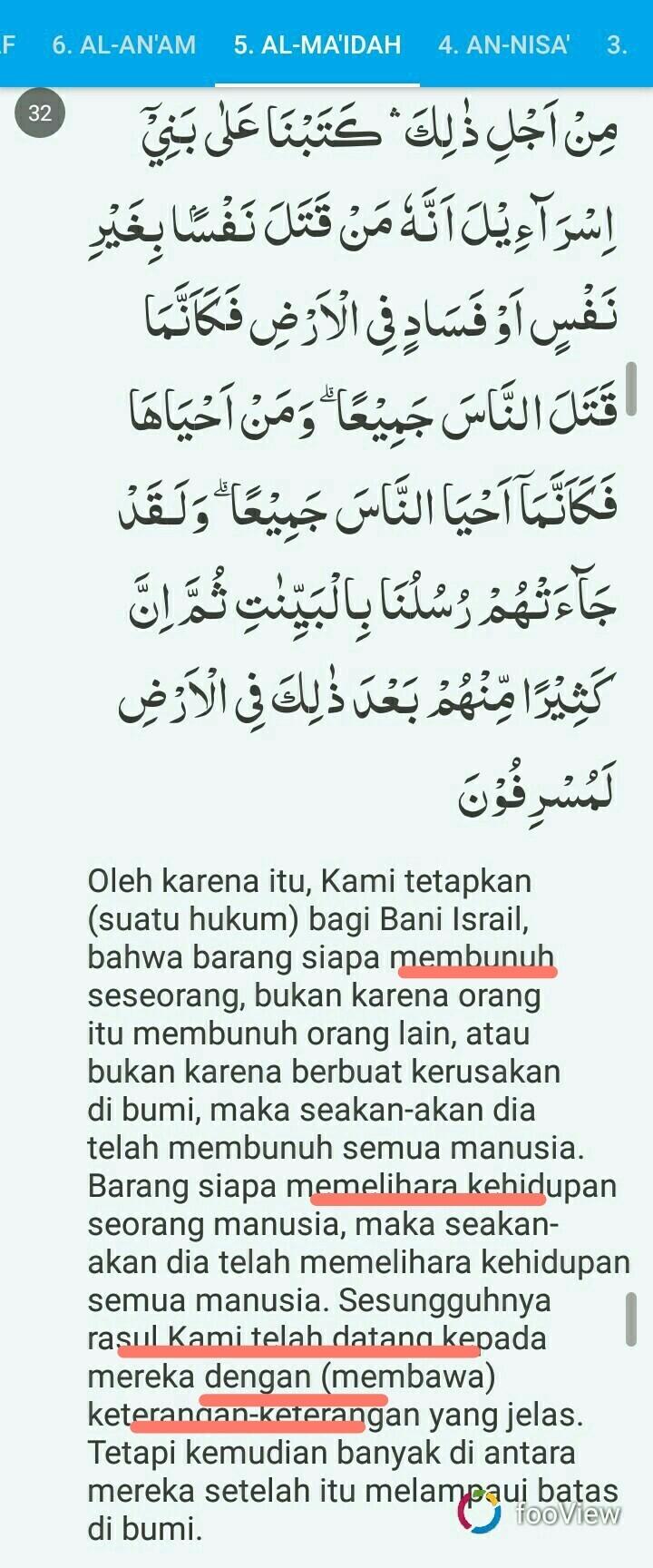 Kandungan Al Maidah Ayat 32 : kandungan, maidah, Sebutkan, Kandungan/kesimpulan, Terkandung, Dalam, QS.AL, MAIDAH, Brainly.co.id
