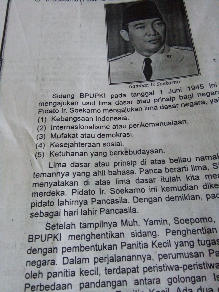 Usulan Dasar Negara Soekarno : usulan, dasar, negara, soekarno, Sebutkan, Usulan, Calon, Dasar, Negara, Menurut, Ir.Soekarno, Brainly.co.id