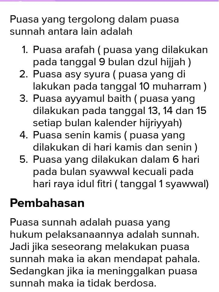 Jelaskan Macam Macam Puasa Sunnah : jelaskan, macam, puasa, sunnah, Jelaskan, Macam-macam, Puasa, Sunnah!, Brainly.co.id