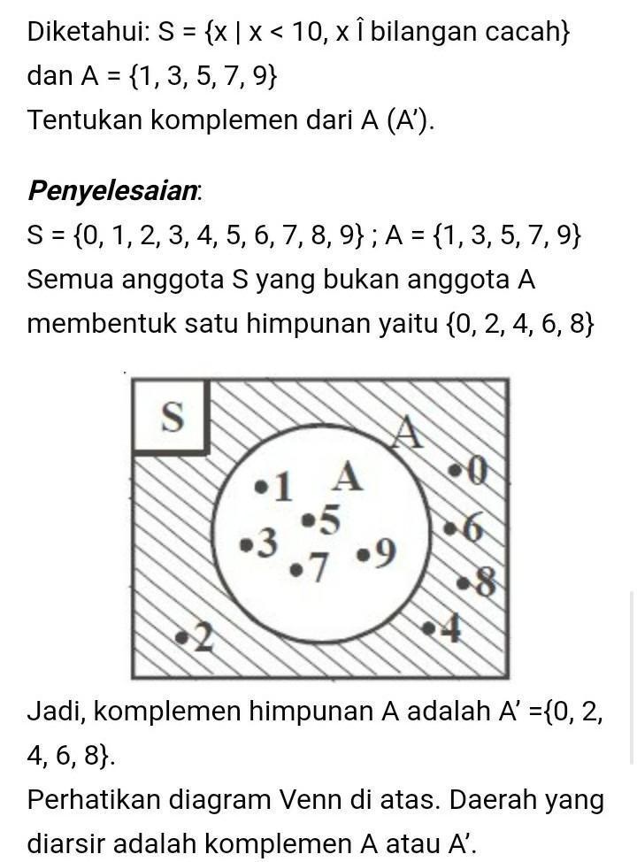 Contoh Soal Komplemen : contoh, komplemen, Contoh, Jawaban, Himpunan, Komplemen, Brainly.co.id