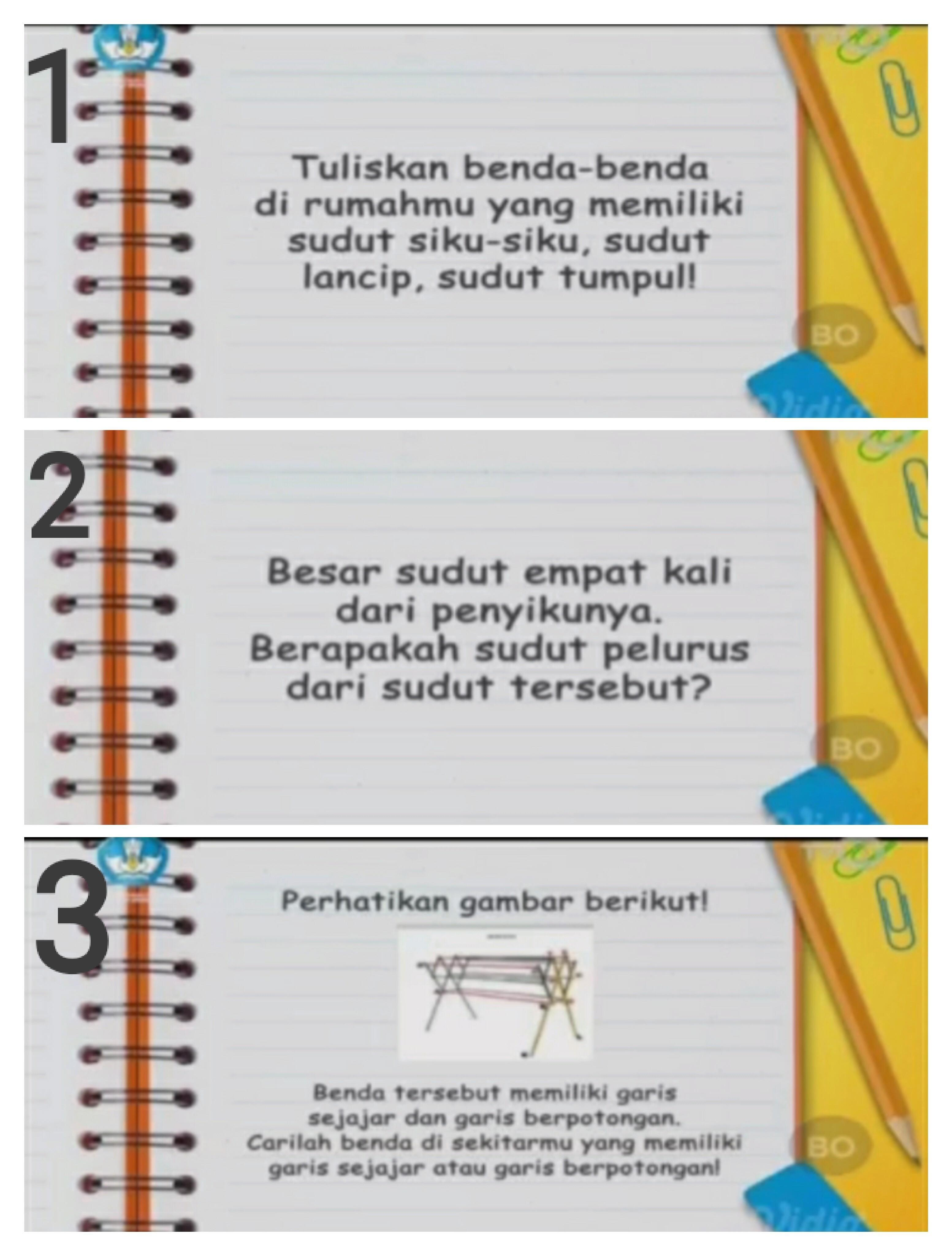 Tuliskan Benda-benda Di Rumahmu Yang Memiliki Sudut Siku-siku Sudut Lancip Dan Sudut Tumpul : tuliskan, benda-benda, rumahmu, memiliki, sudut, siku-siku, lancip, tumpul, Jawablah, Dibawah, Jawab, Beserta, Penjelasan, Caranya!, Brainly.co.id