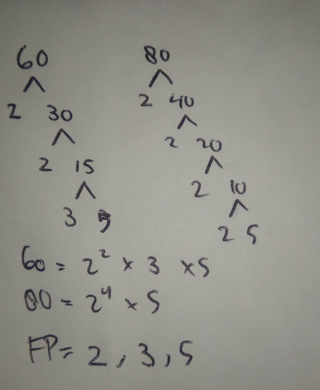 Faktorisasi Prima Dari 60 : faktorisasi, prima, Faktorisasi, Prima, Bilangan, Secara, Berurutan, Adalah, Brainly.co.id
