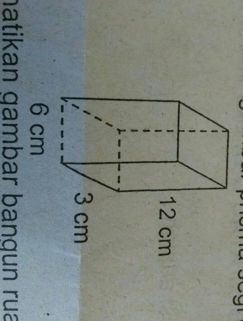Luas Prisma Segi Empat : prisma, empat, Permukaan, Prisma, Empat, Samping, AdalahA.252, Cm²B.225, Cm²C.216, Cm²D.126, Brainly.co.id
