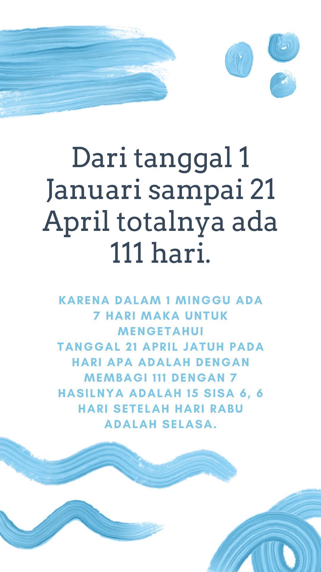 Kabisat Adalah : kabisat, adalah, Tanggal, Januari, Suatu, Tahun, Kabisat, Jatuh, Rabu., Kartini, Brainly.co.id