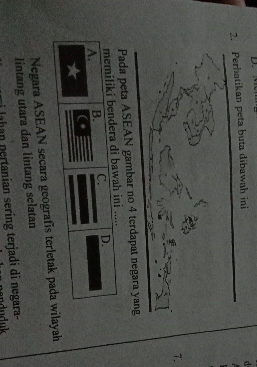 Peta Buta Asean : asean, Perhatikan, Dibawah, IniPada, ASEAN, Gambar, Terdapat, Negara, Yangmemiliki, Bendera, Brainly.co.id