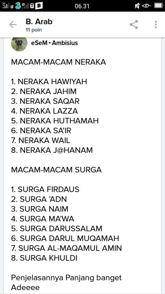 Nama Nama Surga Dan Neraka : surga, neraka, Berapa, Surga, Brainly.co.id