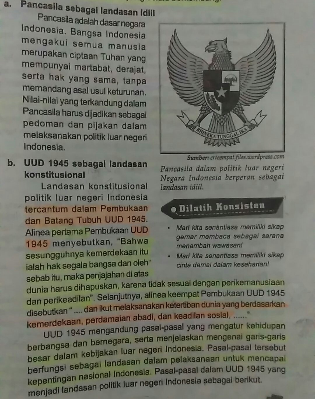 Landasan Politik Luar Negeri Indonesia : landasan, politik, negeri, indonesia, Landasan, Konstitussional, Politik, Negeri, Yaitu, Brainly.co.id