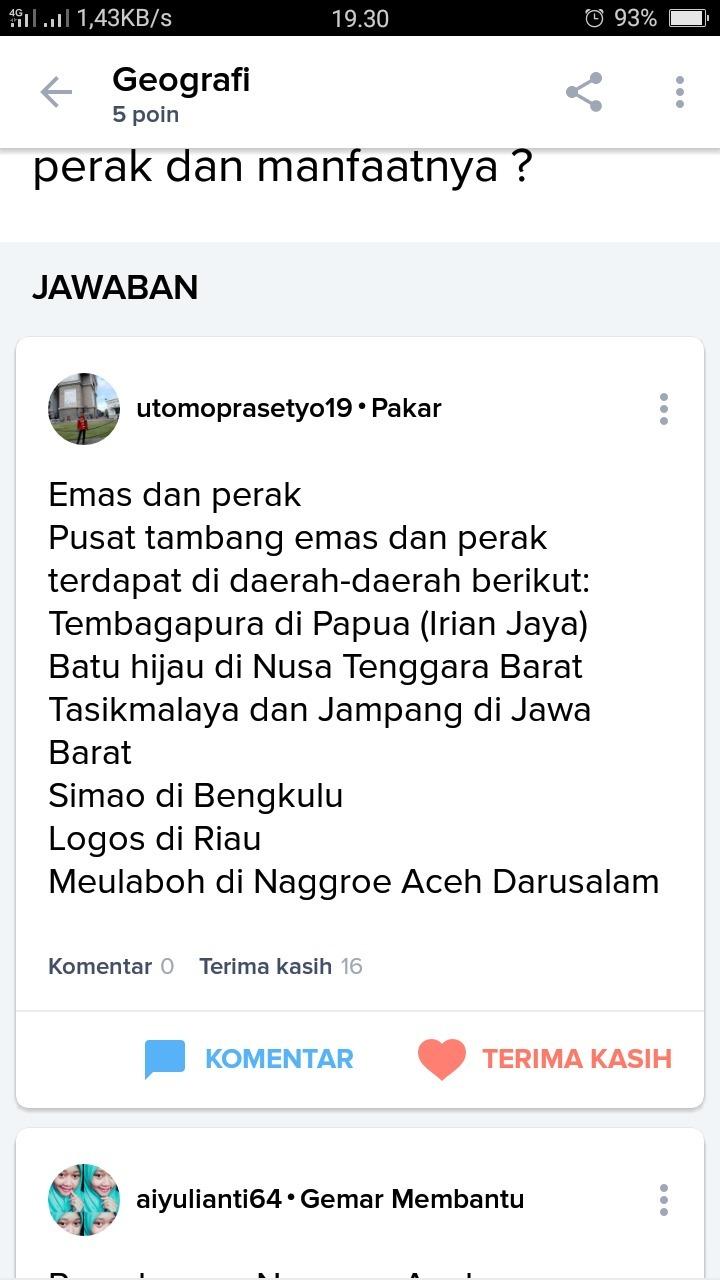 Daerah Penghasil Emas Dan Perak : daerah, penghasil, perak, Daerah, Penghasil, Perak, Pemanfaatannya, Brainly.co.id