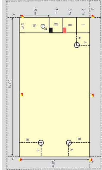 Bentuk Lapangan Rounders Adalah : bentuk, lapangan, rounders, adalah, Gambar, Lapangan, Rounders, Beserta, Ukurannya