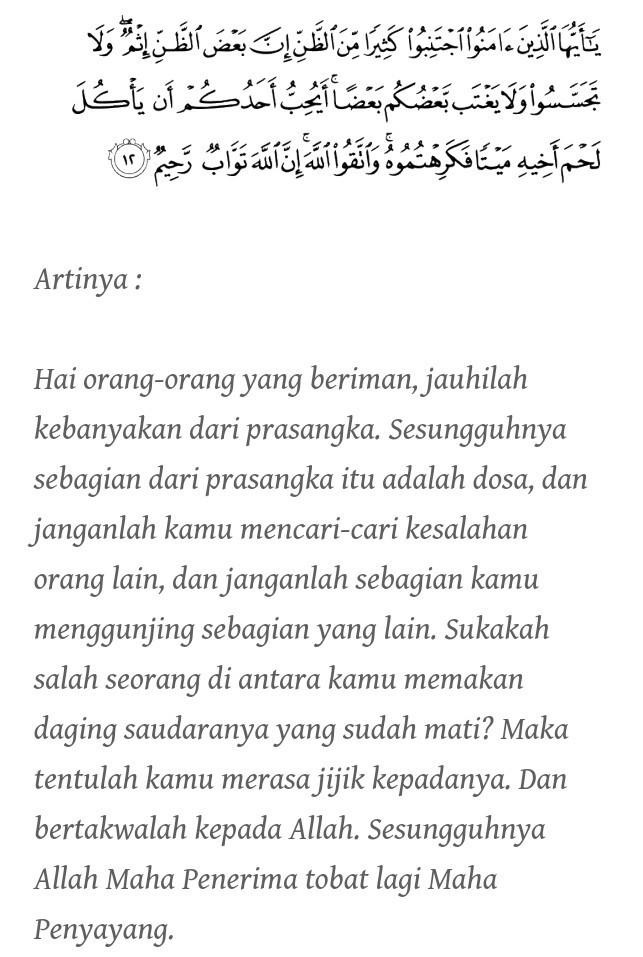 Husnudzon Adalah : husnudzon, adalah, Hadits, Tentang, Hujurat, Husnuzan, Beserta, Artinya, Brainly.co.id