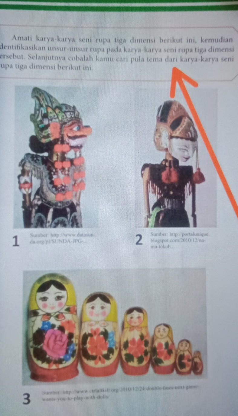 Tema Karya Seni Rupa 3 Dimensi : karya, dimensi, Identifikasikan, Unsur-unsur, Karya-karya, Dimensi, Berikut., Selanjutnya, Cobalah, Brainly.co.id