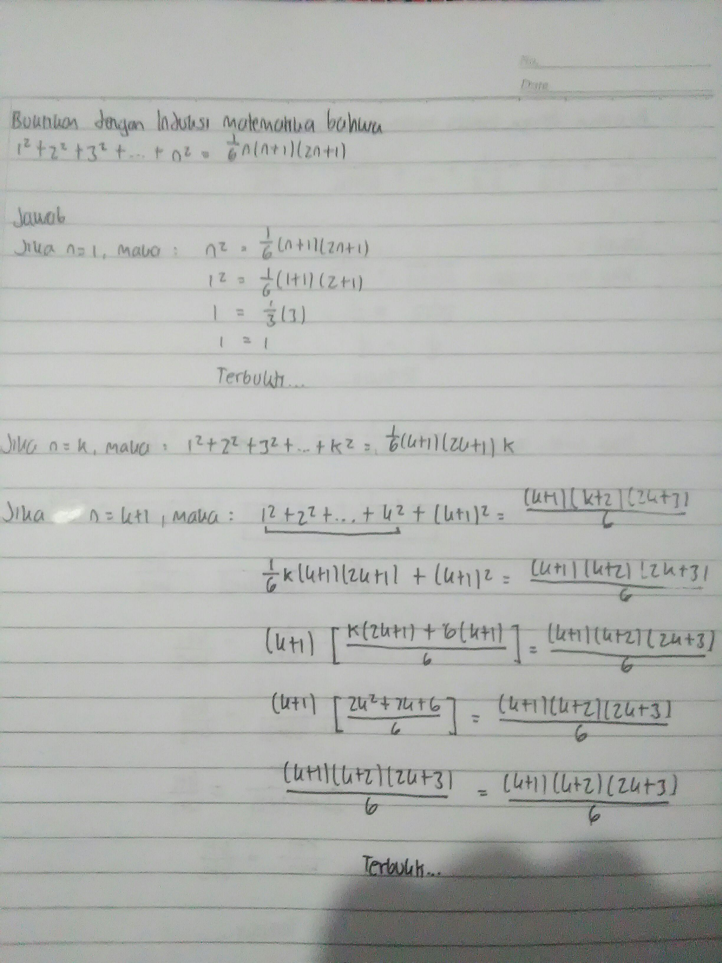 Contoh Soal Induksi Matematika Kelas 11 Beserta Jawabannya : contoh, induksi, matematika, kelas, beserta, jawabannya, Berikan, Contoh, Pembahasan, Tentang, Induksi, Matematuka, Brainly.co.id