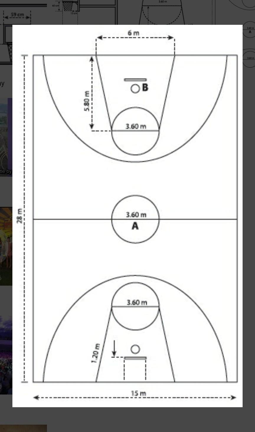 Gambar Lapangan Bola Basket : gambar, lapangan, basket, Pengertian, Permainan, Basket, Serta, Bentuk, Lapangan, Ukuran, Jumlah, Pemain, Tinggi, Keranja, Brainly.co.id